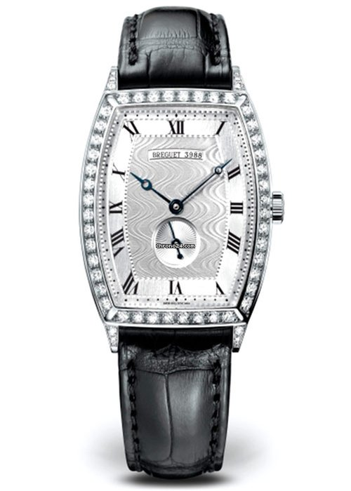 Brequet Héritage 3661 18K White Gold & Diamonds Ladies Watch, 3661BB/12/984/DD00