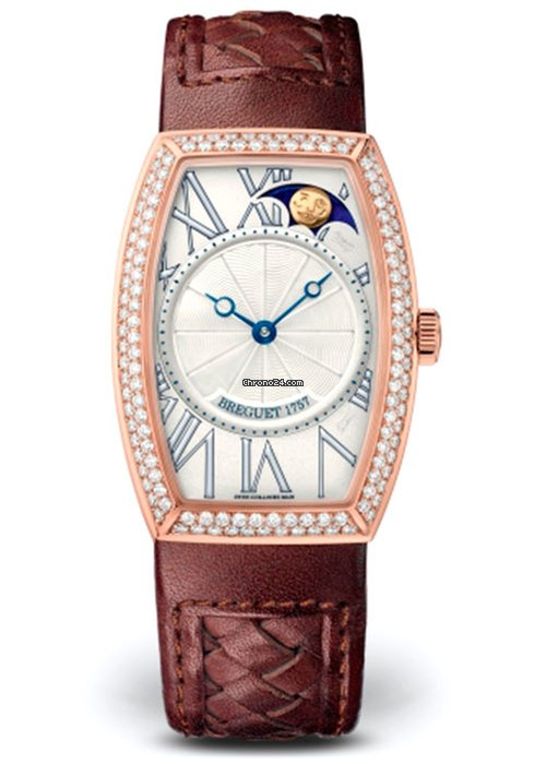 Brequet Héritage 8861 18K Rose Gold & Diamonds Ladies Watch, 8861BR/11/386/D000