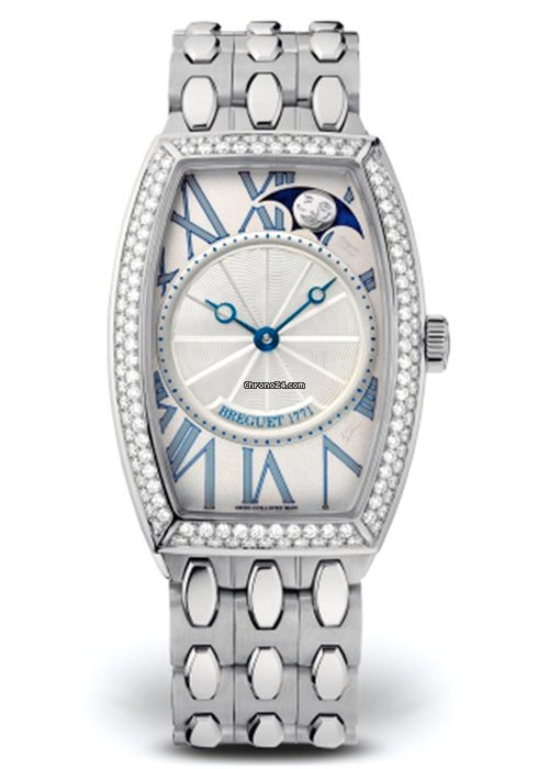 Brequet Héritage 8861 18K White Gold & Diamonds Ladies Watch, 8861BB/11/BB0/D000