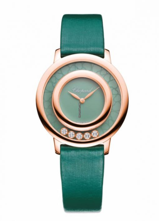 Chopard Happy Sport Icons 18K Rose Gold, Agate & Diamonds Ladies Watch, 209429-5107