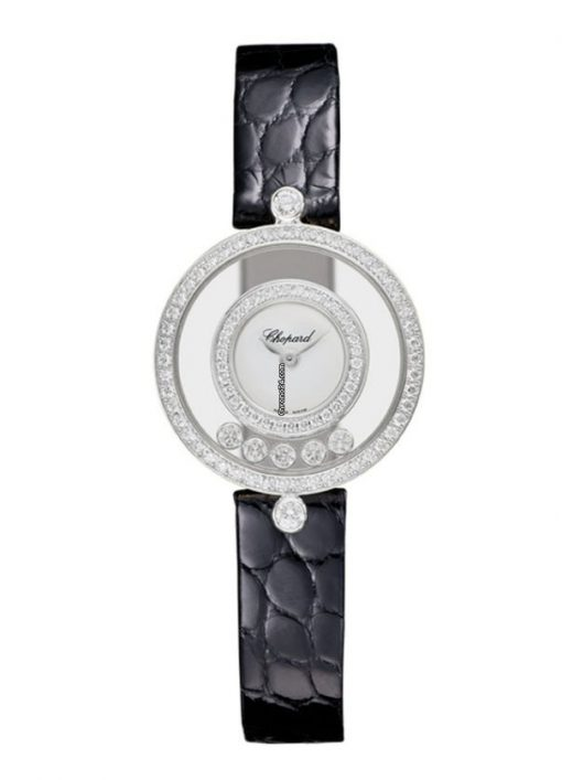 Chopard Happy Sport Icons 18K White Gold & Diamonds Ladies Watch, 203957-1201