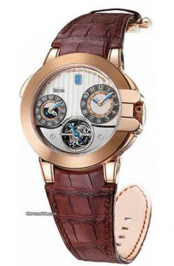 Harry Winston Tourbillon GMT Z5 18K Rose Gold Men's Watch preowned.400-MATTZ45RL-WA