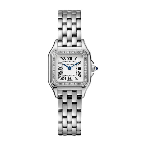 Cartier Panthère Stainless Steel & Diamonds Small Model Ladies Watch, W4PN0007