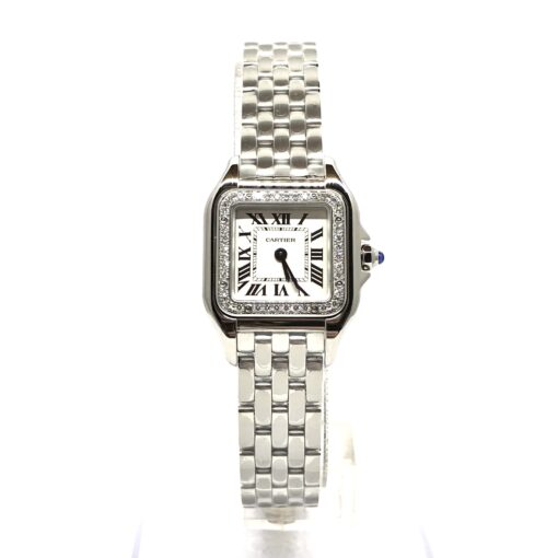 Cartier Panthère Stainless Steel & Diamonds Small Model Ladies Watch, W4PN0007 2