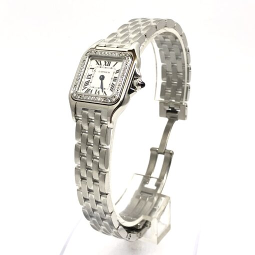 Cartier Panthère Stainless Steel & Diamonds Small Model Ladies Watch, W4PN0007 3