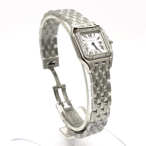 Cartier Panthère Stainless Steel & Diamonds Small Model Ladies Watch, W4PN0007 4