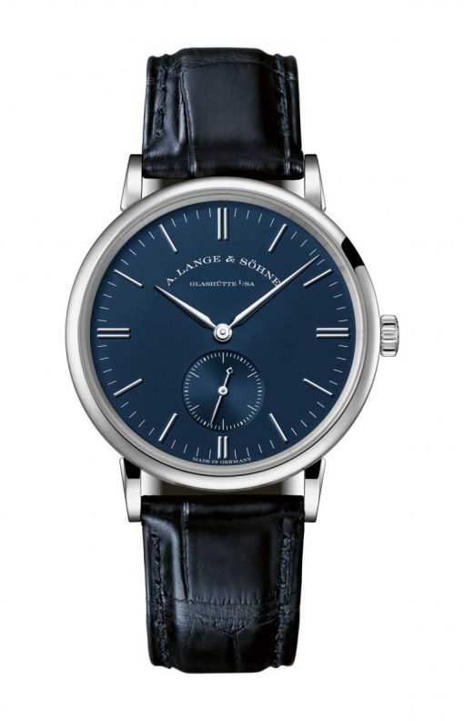 A. Lange and Sohne SAXONIA White Gold Men`s Watch, 219.028