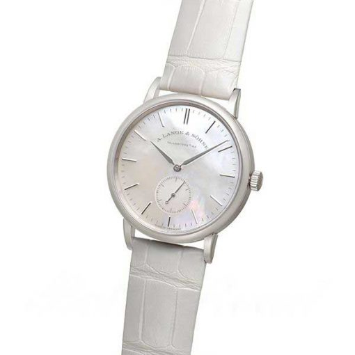 A. Lange and Sohne Saxonia White Gold Ladies' Watch, 219.047 3