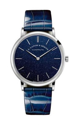 A. Lange and Sohne Saxonia Thin in Copper Blue 18k White Gold Men's… 205.086