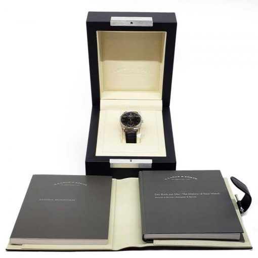 A. Lange and Sohne Saxonia Moonphase 18k White Gold Automatic Men's Watch, 384.029 10