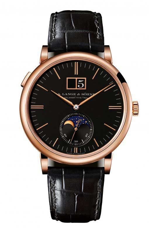 A. Lange and Sohne Saxonia Moonphase 18k Rose Gold Automatic Men's Watch, 384.031
