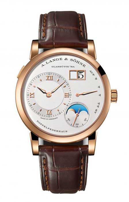 A. Lange and Sohne Lange 1 Moon Phase Rose Gold Men`s Watch, 192.032