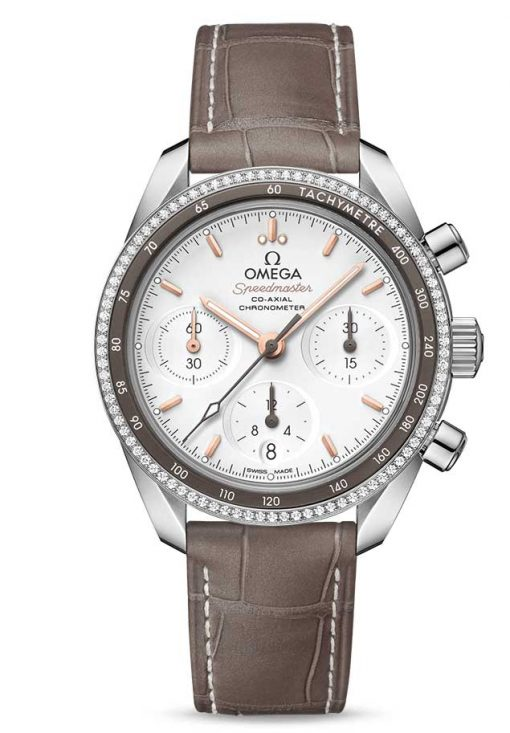 Omega Speedmaster Co-Axial Stainless Steel & Diamonds Unisex Watch, 324.38.38.50.02.001