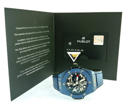 Hublot Big Bang Meca-10 Ceramic Blue Men's Watch, 414.EX.5123.RX 8