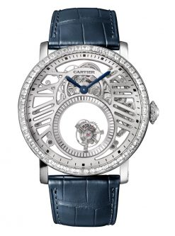 Cartier Rotonde Mysterious Double Tourbillon Platinum & Diamonds Men's Watch HPI01199