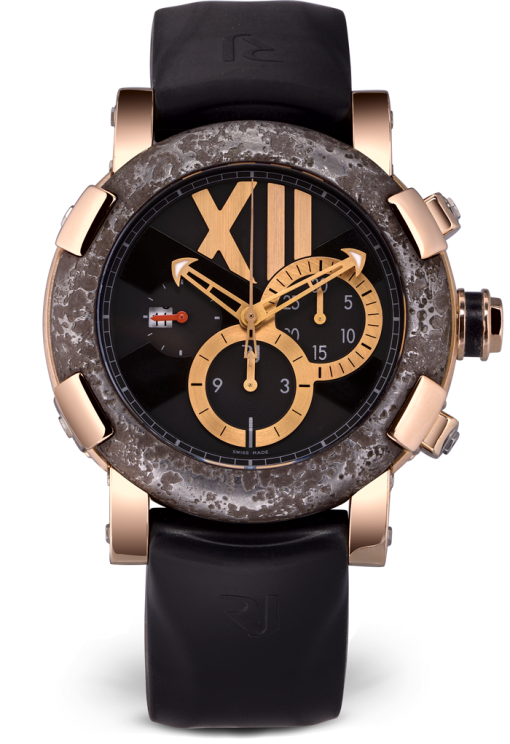 Romain Jerome Titanic DNA Rusted steel T-OXY III Chronograph Men's Watch, preowned.CH.T.OXY3.2222.00.BB