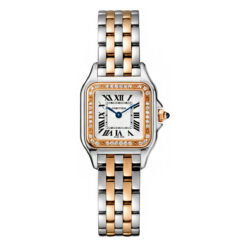 Cartier Panthère 18K Pink Gold & Stainless Steel & Diamonds Small Model Ladies… W3PN0006