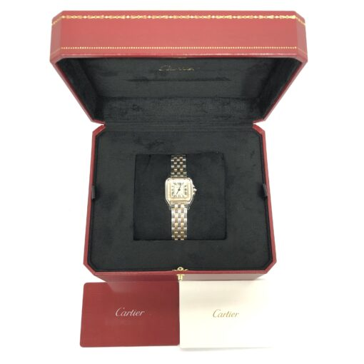 Cartier Panthère 18K Pink Gold & Stainless Steel & Diamonds Small Model Ladies Watch, W3PN0006 5