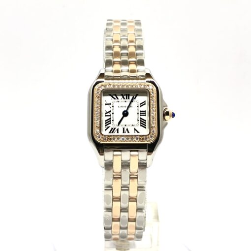 Cartier Panthère 18K Pink Gold & Stainless Steel & Diamonds Small Model Ladies Watch, W3PN0006 2