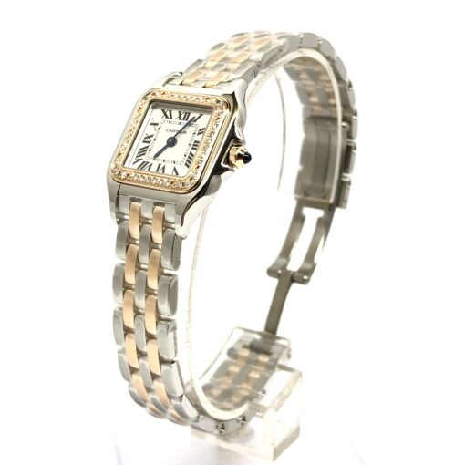 Cartier Panthère 18K Pink Gold & Stainless Steel & Diamonds Small Model Ladies Watch, W3PN0006 3