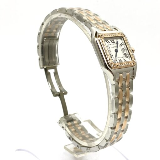 Cartier Panthère 18K Pink Gold & Stainless Steel & Diamonds Small Model Ladies Watch, W3PN0006 4