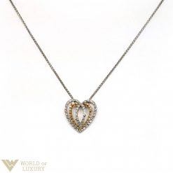 Damiani Heart Pendant with White and Rose Gold, Diamonds 20023524
