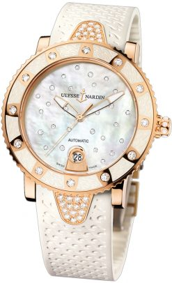 Ulysse Nardin Lady Marine Diver Starry Night 18k Rose Gold & Diamonds Ladies… preowned.8106-101E-3C/20