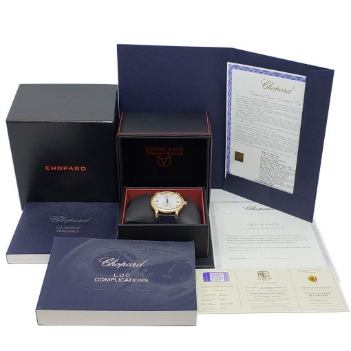 Chopard L.U.C Quattro Limited Edition 18K Rose Gold Men's Watch, 161926-5004 9