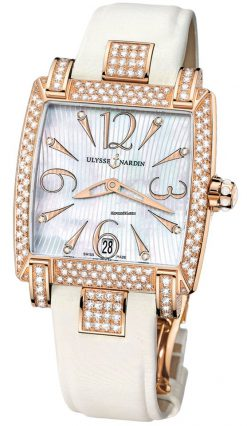 Ulysse Nardin Caprice 18k Rose Gold & Diamonds Ladies Watch preowned.136-91AC/691