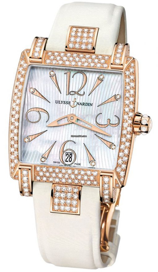 Ulysse Nardin Caprice 18k Rose Gold & Diamonds Ladies Watch, preowned.136-91AC/691