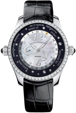 Girard-Perregaux WW.TC Lady 24 Hour Shopping Stainless Steel & Diamonds Ladies Watch preowned.49860D11A762ACK6A