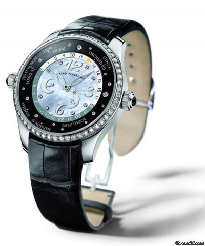 Girard-Perregaux WW.TC Lady 24 Hour Shopping Stainless Steel & Diamonds Ladies Watch, preowned.49860D11A762ACK6A 2