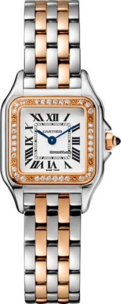 Cartier Panthère 18K Pink Gold & Stainless Steel & Diamonds Ladies Watch W3PN0006