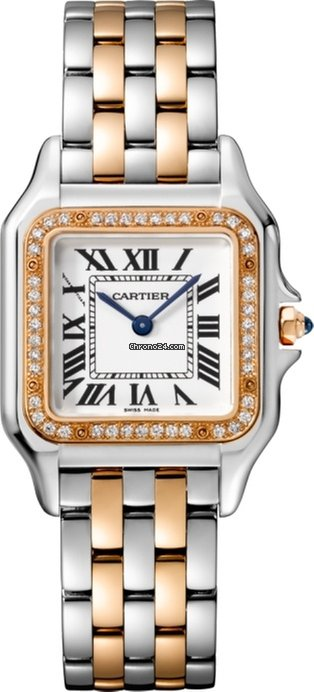 Cartier Panthère 18K Pink Gold & Stainless Steel & Diamonds Ladies Watch, W3PN0007