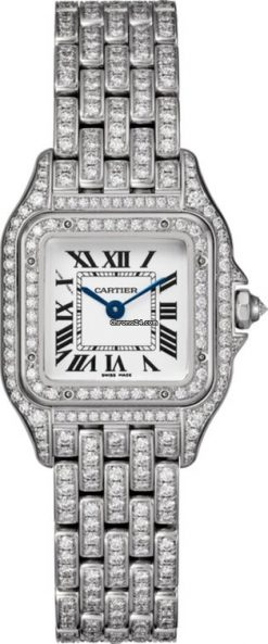 Cartier Panthère 18K White Gold & Diamonds Ladies Watch HPI01129