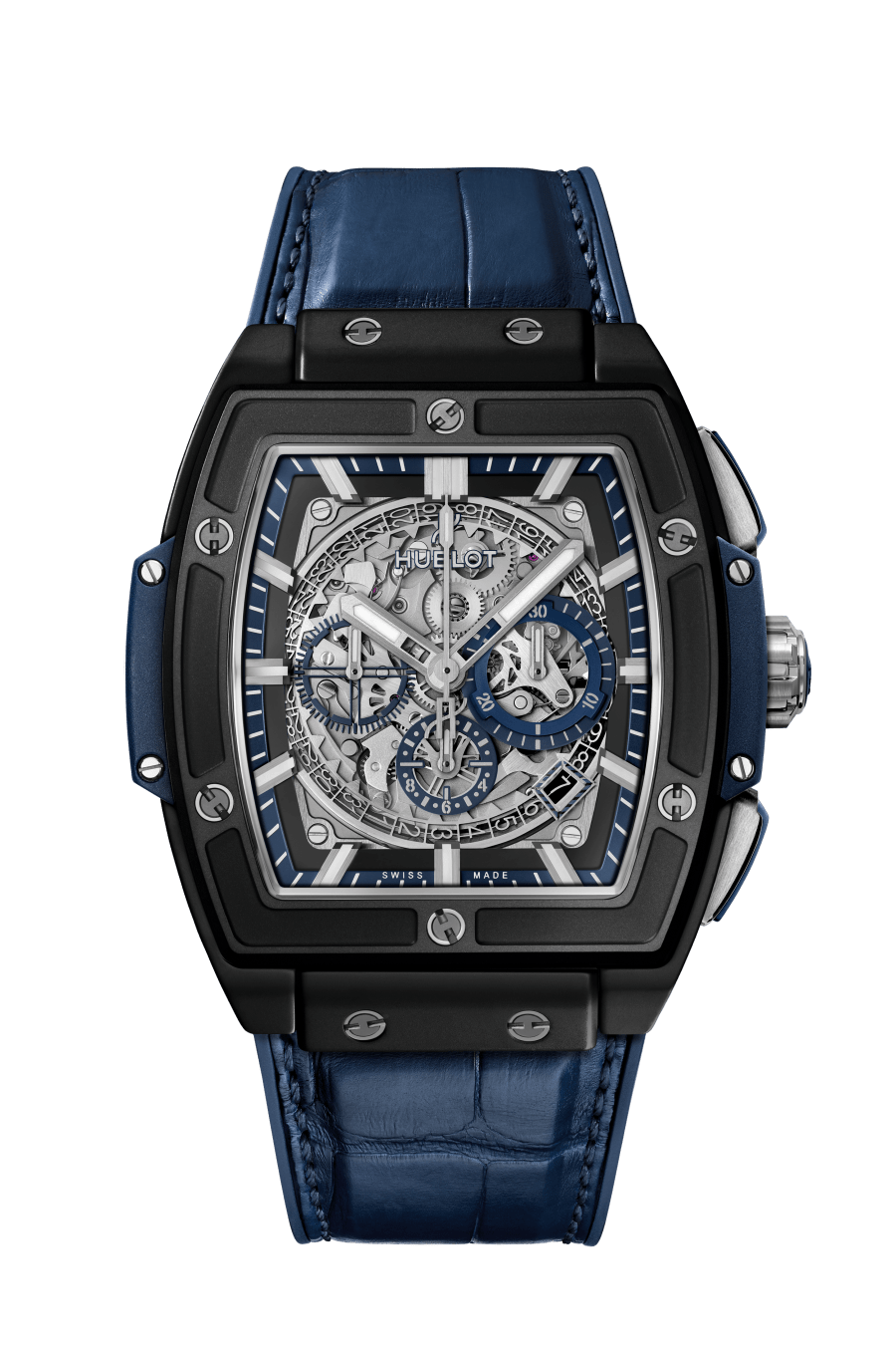 Hublot Spirit of Big Bang 45 mm Black Ceramic Blue Men's Watch, 601.CI.7170.LR