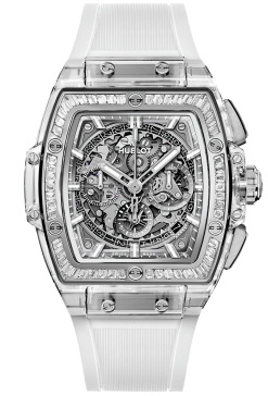 Hublot Spirit of Big Bang Chronograph Sapphire Crystal & Baguette Diamonds Men's Watch 641.JX.0120.RT.1904