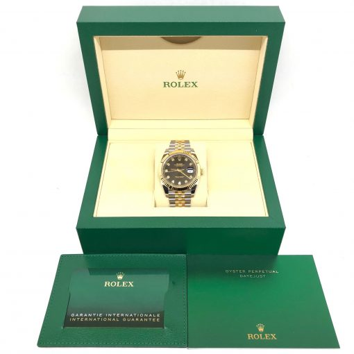 Rolex Oyster Perpetual Datejust 41 Stainless Steel & 18K Yellow Gold with Diamonds Men's Watch, 126333-0006 5