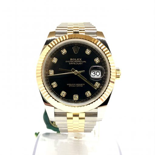 Rolex Oyster Perpetual Datejust 41 Stainless Steel & 18K Yellow Gold with Diamonds Men's Watch, 126333-0006 2