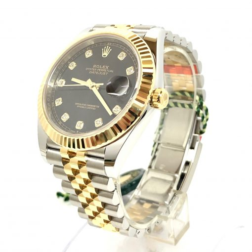 Rolex Oyster Perpetual Datejust 41 Stainless Steel & 18K Yellow Gold with Diamonds Men's Watch, 126333-0006 3