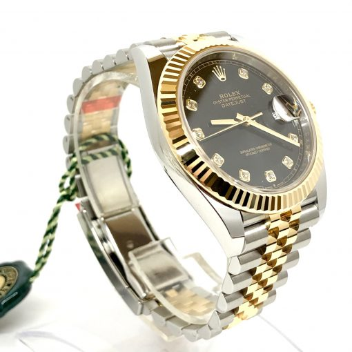 Rolex Oyster Perpetual Datejust 41 Stainless Steel & 18K Yellow Gold with Diamonds Men's Watch, 126333-0006 4
