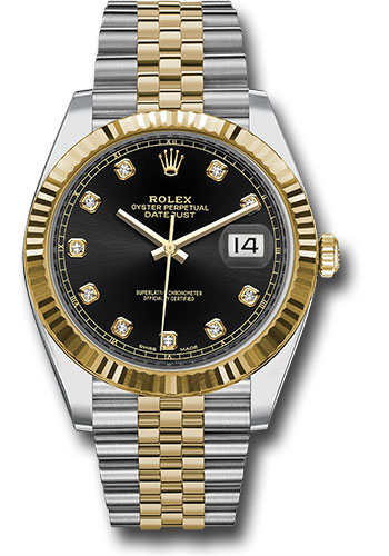 Rolex Oyster Perpetual Datejust 41 Stainless Steel & 18K Yellow Gold with Diamonds Men's Watch, 126333-0006