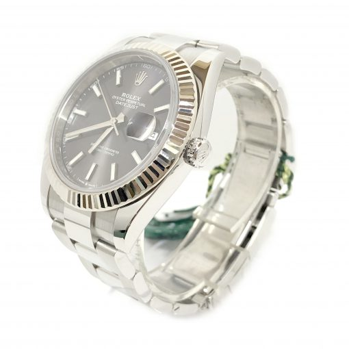 Rolex Oyster Perpetual Datejust 41 Stainless Steel & 18K White Gold Men's Watch, 126334-0013 2