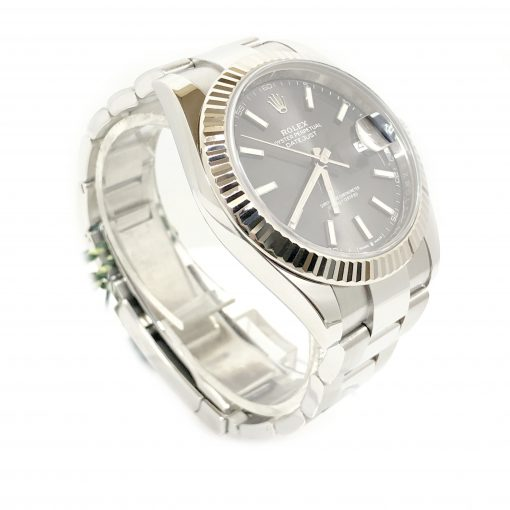 Rolex Oyster Perpetual Datejust 41 Stainless Steel & 18K White Gold Men's Watch, 126334-0013 3