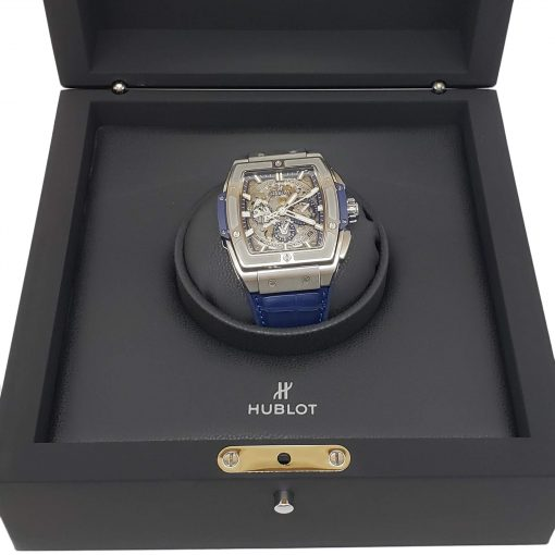 Hublot Spirit of Big Bang 42 mm Titanium Blue Men's Watch, 641.NX.7170.LR 4