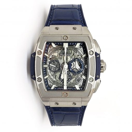 Hublot Spirit of Big Bang 42 mm Titanium Blue Men's Watch, 641.NX.7170.LR