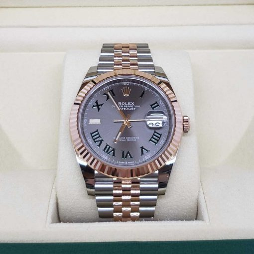 Rolex Oyster Perpetual Datejust 41 Stainless Steel & 18K Rose Gold Men's Watch, 126331-0016 3