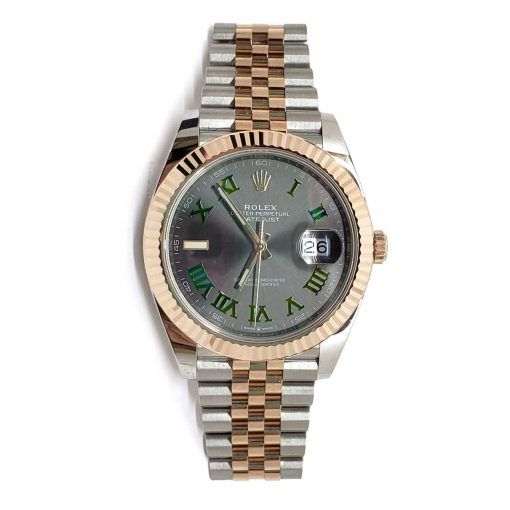 Rolex Oyster Perpetual Datejust 41 Stainless Steel & 18K Rose Gold Men's Watch, 126331-0016