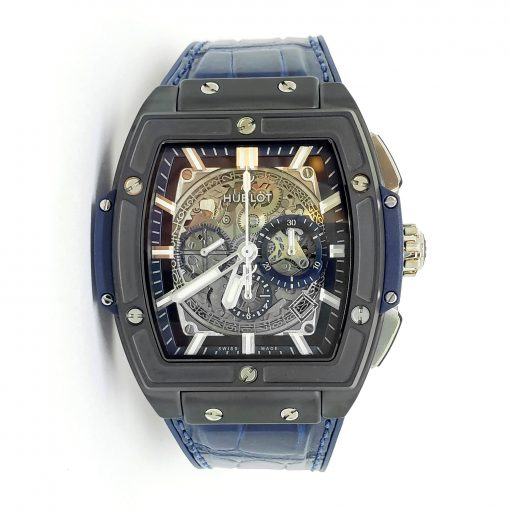 Hublot Spirit of Big Bang 45 mm Black Ceramic Blue Men's Watch, 601.CI.7170.LR 5