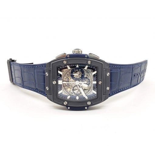 Hublot Spirit of Big Bang 45 mm Black Ceramic Blue Men's Watch, 601.CI.7170.LR 2